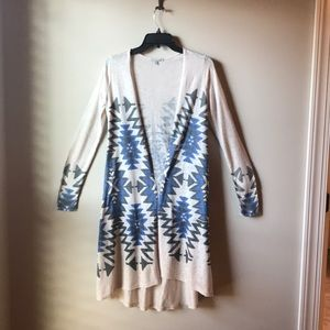 Southwest style long sweater